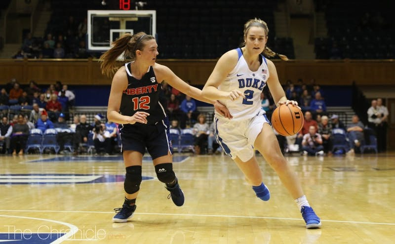 With Lexie Brown cold from the field, Haley Gorecki led the Blue Devils in scoring.