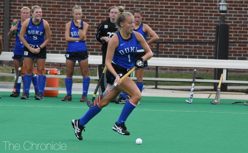 Junior Erin Scherrer scored two goals Sunday and now has five goals in Duke's last five games.