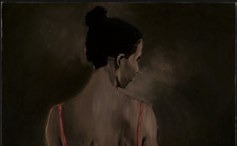 "Lynette Yiadom-Boakye's ""Places to Love For"" is featured in ""Solidary & Solitary: The Joyner/Giuffrida Collection,"" which opened Thursday and will run through July 15."