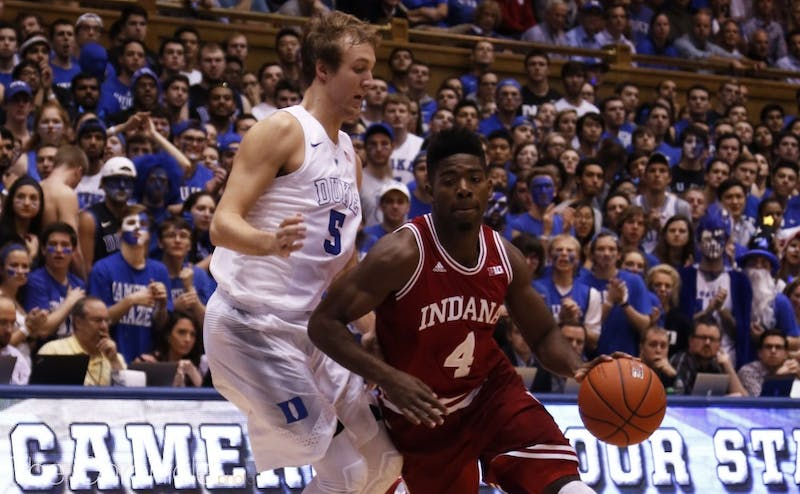 Senior Robert Johnson is averaging double figures for the Hoosiers this year.