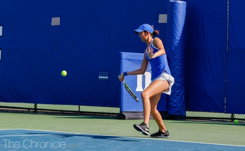 Meible Chi's three-set victory on her birthday clinched Duke's first final four appearance since 2012.
