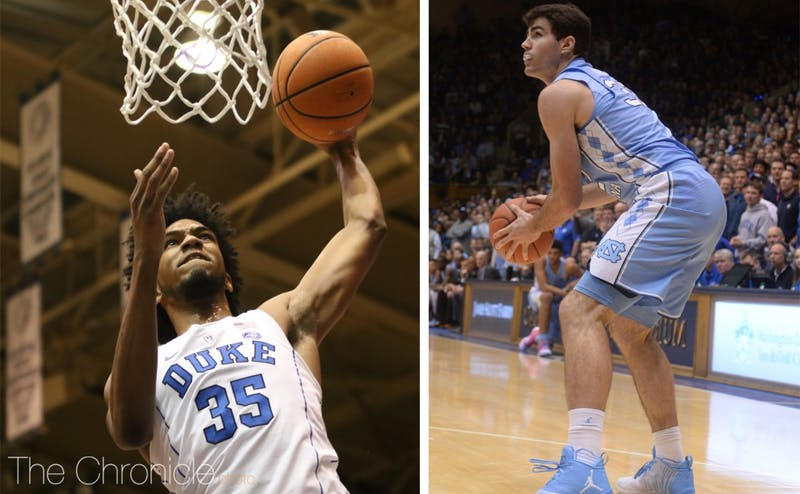 ACC Player of the Year frontrunners Marvin Bagley III and Luke Maye will face off Thursday.