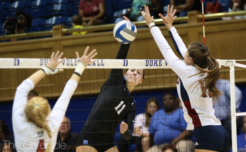 Outside hitter Payton Schwantz has immediately taken on a starring role as a freshman, leading the team in kills.