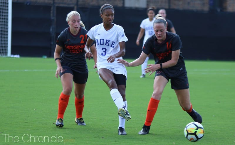 Senior Imani Dorsey assisted on the Blue Devils' second goal and scored her team-high seventh goal less than 10 minutes later to put the game away.