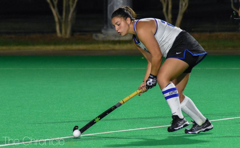Alyssa Chillano scored two goals to win her final regular-season game against North Carolina.