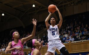 Leaonna Odom had one of her more aggressive games of the season with 15 points and 12 rebounds.