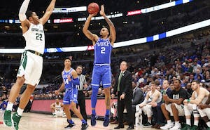 Gary Trent Jr. is still searching for consistency in his perimeter shooting after making 1-of-7 attempts from beyond the arc Tuesday, though the one he made put Duke ahead for good.