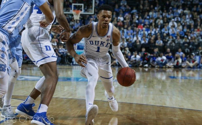 Trevon Duval had the ball stolen from him five times by North Carolina.