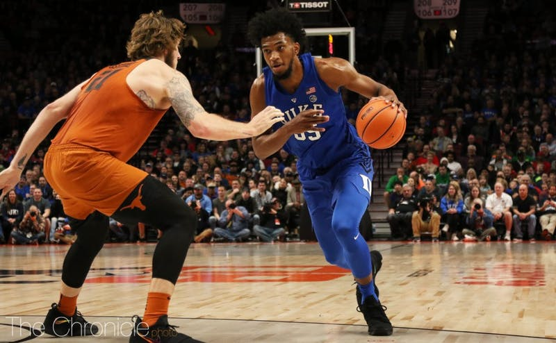 A fifth double-double in just seven games for Marvin Bagley III sparked a massive Duke comeback after the Blue Devils trailed by a dozen at halftime.