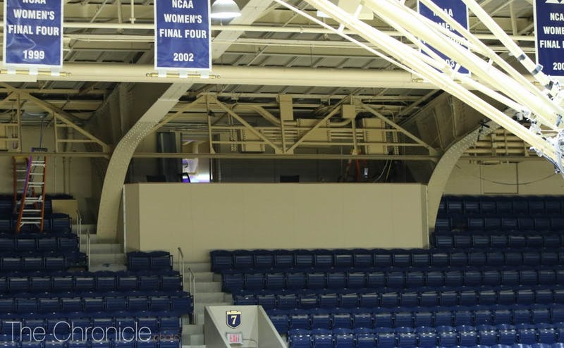 A temporary platform in place of the crow's nest will interfere with about 40 seats in Section 7 this year.