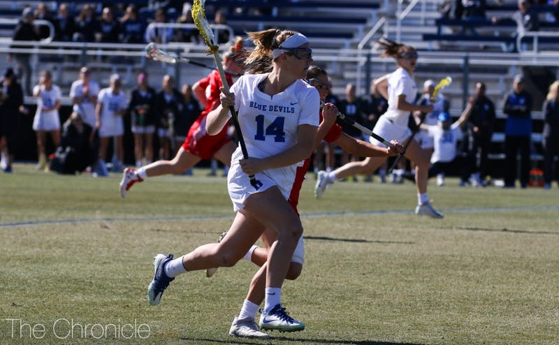 Olivia Jenner broke the Blue Devils' all-time record for draw controls Sunday.