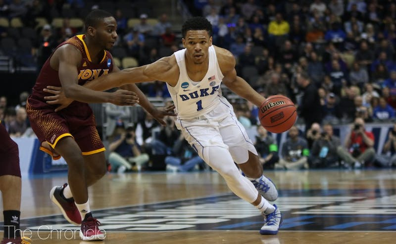 Trevon Duval had one of his best showings of the season, coming close to a double-double and making four 3-pointers.