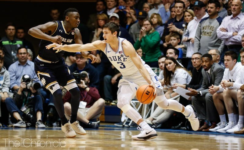 Grayson Allen is one of the few Blue Devils remaining from the team that beat Notre Dame in last year's ACC championship.