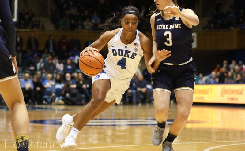 Lexie Brown led a balanced offensive effort for the Blue Devils, but it was not enough to top Notre Dame.