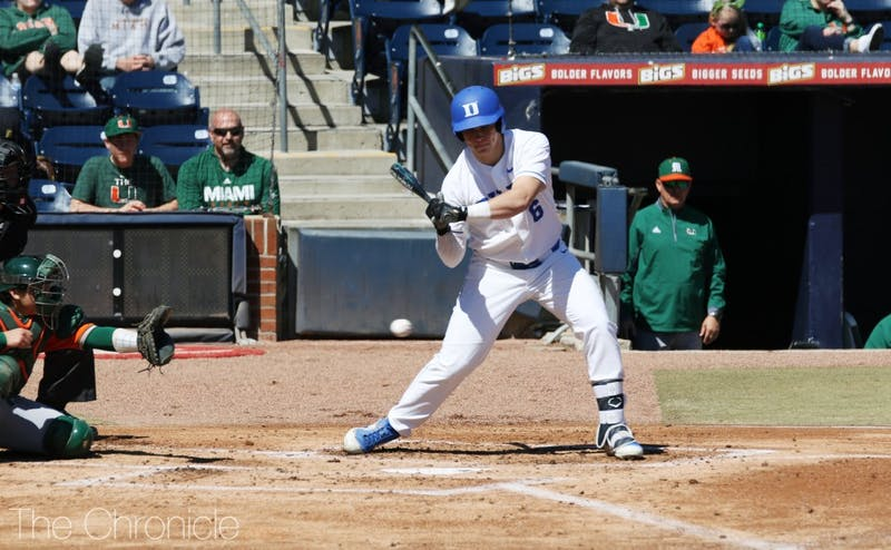 Jack Labosky's 13th inning walk forced in the go-ahead run for Duke Thursday.