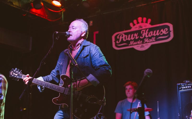 Steve Hartsoe, who is also a senior editor in the Duke Office of News & Communications, performs with his band at the Pour House Music Hall in Raleigh.