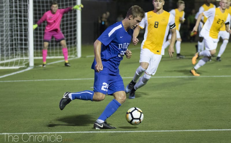 In his final season at Duke, Durham native Cody Brinkman has helped position his team well for an NCAA tournament berth in the midfield.