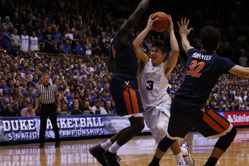 Grayson Allen's buzzer-beater in 2016 sealed the second of his three career wins against Virginia.