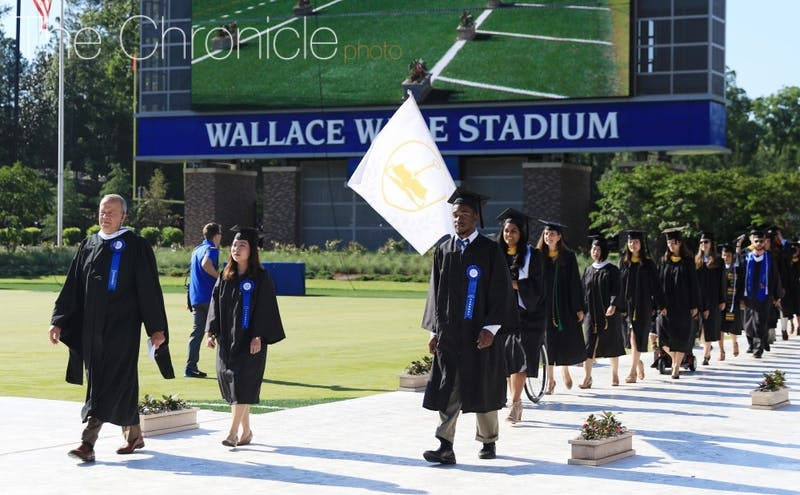 The procession from Commencement 2017.