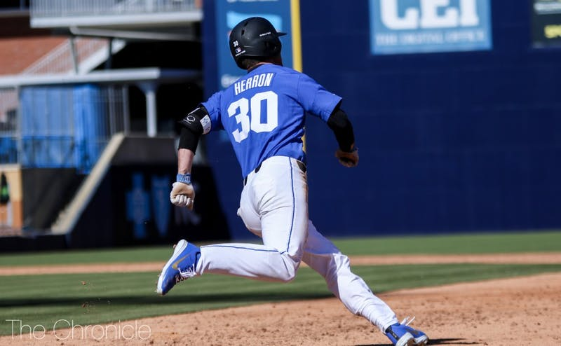 Jimmy Herron went 3-for-4 to lead Duke to a win in Sunday's series finale.