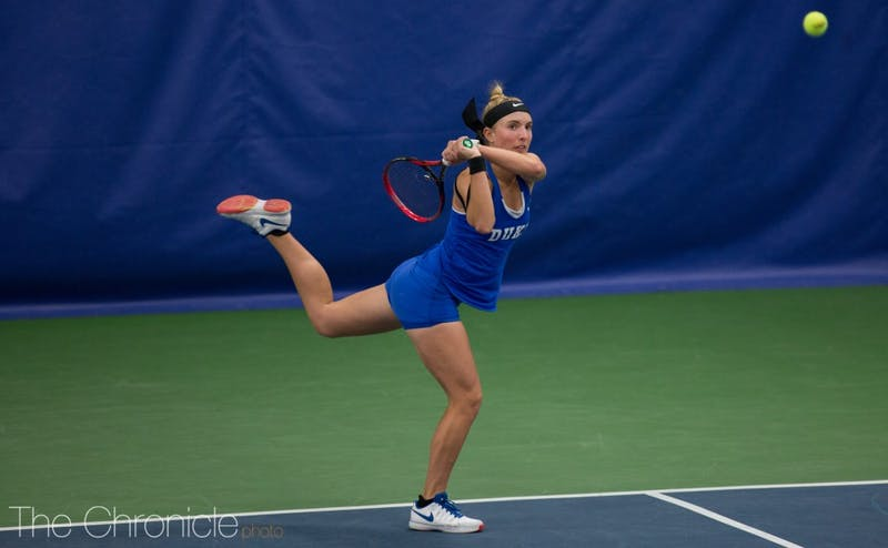 Ellyse Hamlin won with ease in both doubles and singles to set the tone at Michigan.