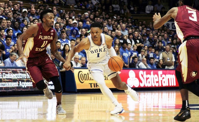 Trevon Duval scored or assisted on 17 of Duke's last 20 points and played the last 10 minutes of the game with four fouls.