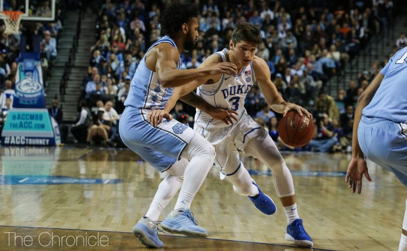 Grayson Allen lost what was likely his last college matchup against childhood teammate Joel Berry II.