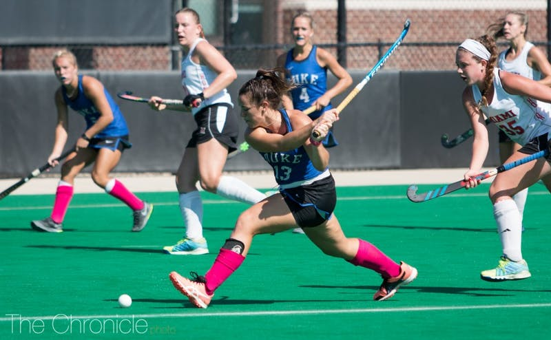 Rose Tynan put the Blue Devils on the board with a goal two minutes into the second half.
