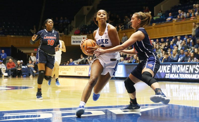 Lexie Brown struggled with seven turnovers in Duke's most recent game against Wyoming.
