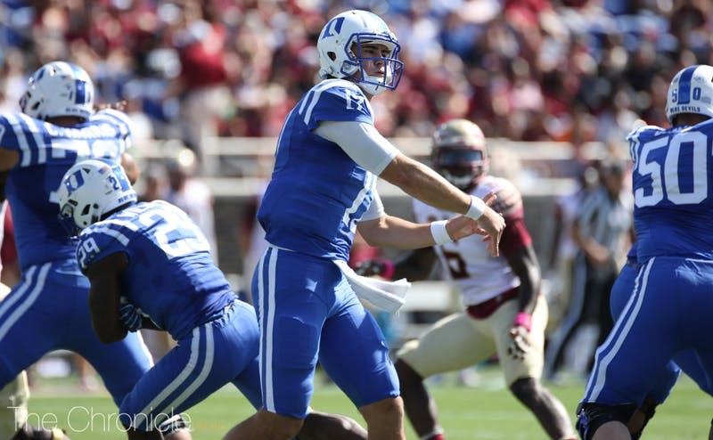 Daniel Jones enjoyed better protection against Florida State last week and will get a chance to break out against a vulnerable Pittsburgh secondary.
