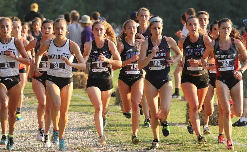 Freshmen Amanda Beach and Michaela Reinhart led Duke to a second-place finish Friday evening in Cary.
