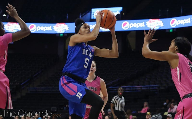 Leaonna Odom and the Blue Devils have been outrebounded in four straight games.