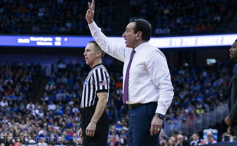 Mike Krzyzewski committed to a zone defense for the long haul for the first time of his career this season.