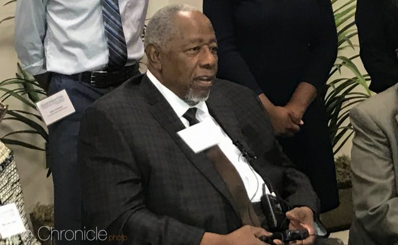 A Duke-sponsored summer research program for Durham public school students was named after Hank Aaron.