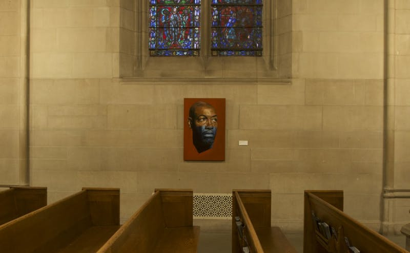 "William Paul Thomas's exhibit ""Sitters in Transit,"" now on display at the Duke Chapel, depicts locals as well as the artist's family and friends."