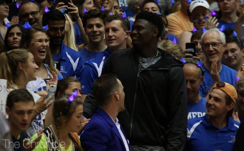 Zion Williamson shocked the college basketball world by committing to Duke Saturday night.