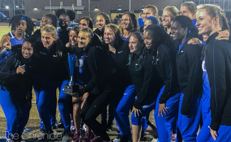 Duke's women's team won nine different events on its way to the Battle of the Blues title.