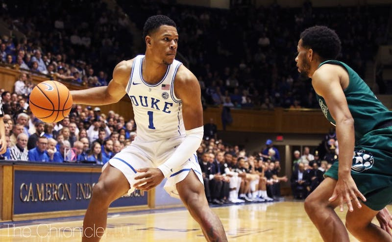 Trevon Duval is expected to return to the floor after he was suspended for Duke's second exhibition due to academic reasons.