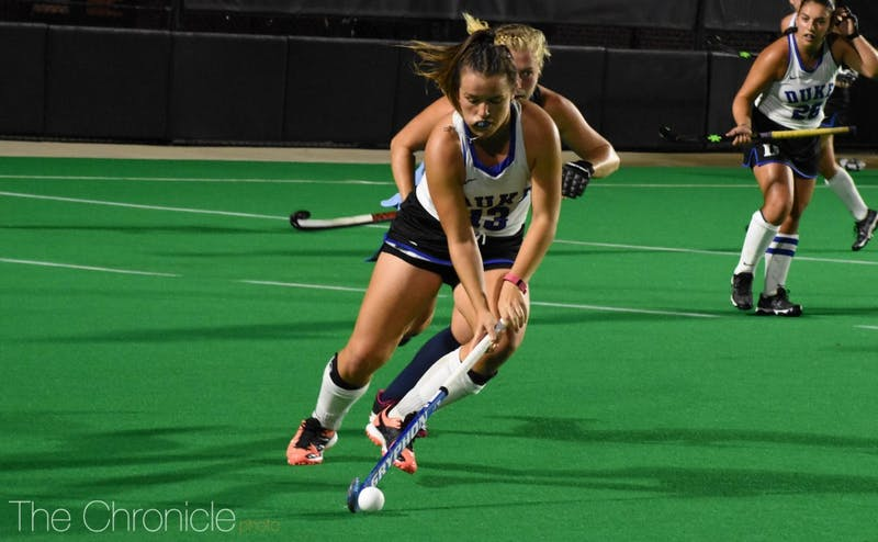 Duke staved off a major upset when Rose Tynan scored an overtime goal.