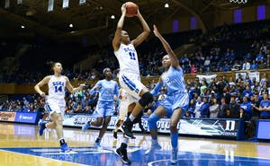 Connecticut forward Azurá Stevens is averaging more than 15 points per game for the Huskies after transferring from Duke, where she was a first-team All-ACC player.