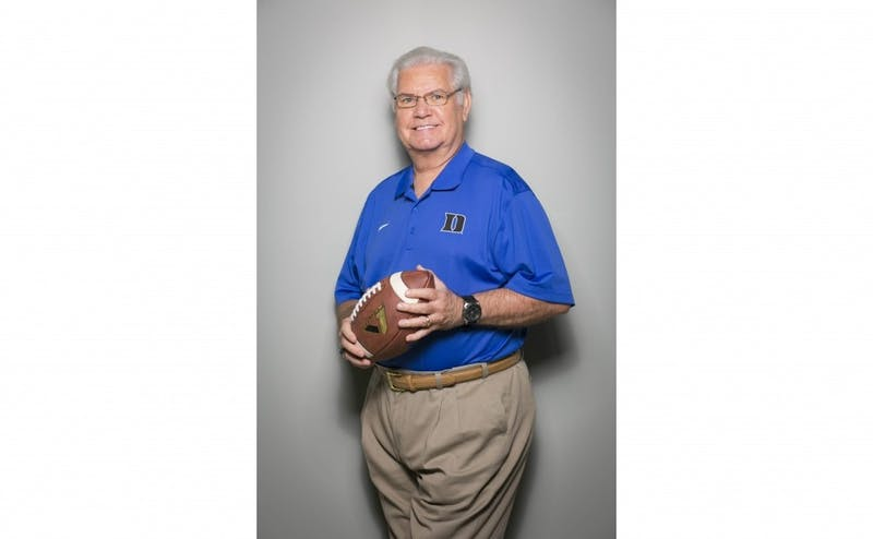 Broadcaster Bob Harris spent 41 years at Duke as the voice for Duke football and men's basketball.