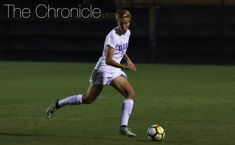 Less than a minute after Kayla McCoy's equalizer, senior Rebecca Quinn buried the game-winner from 25 yards out for her first goal of the season.