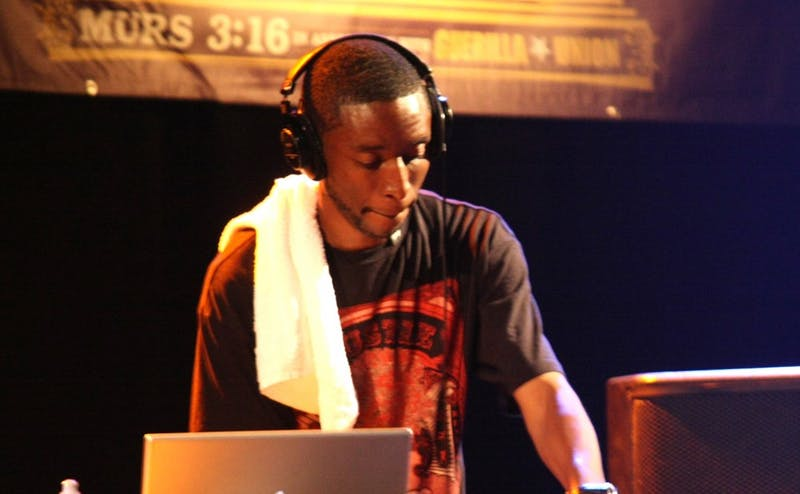 "9th Wonder, pictured performing in 2008, helped produce Kendrick Lamar's album ""DAMN.,"" which is nominated for Album of the Year at the upcoming Grammys."