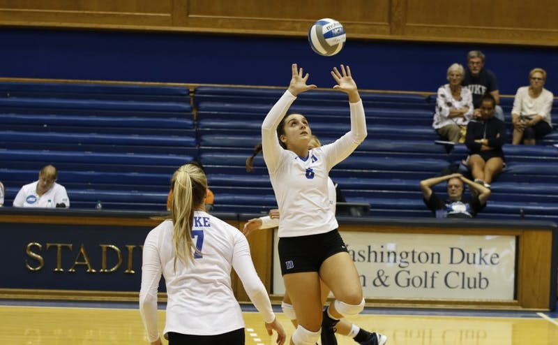 Co-captain Emma Paradiso got the most action at setter for Duke last season.