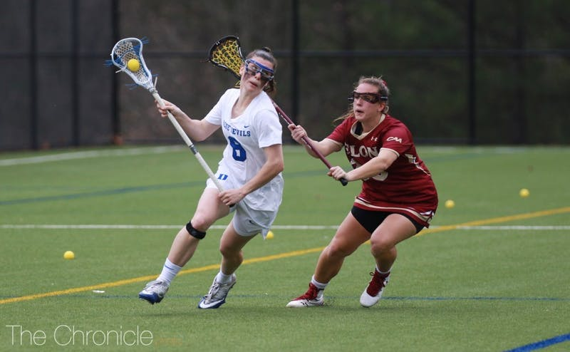 Charlotte North scored eight goals Saturday after matching Duke's single-game record with seven last week.
