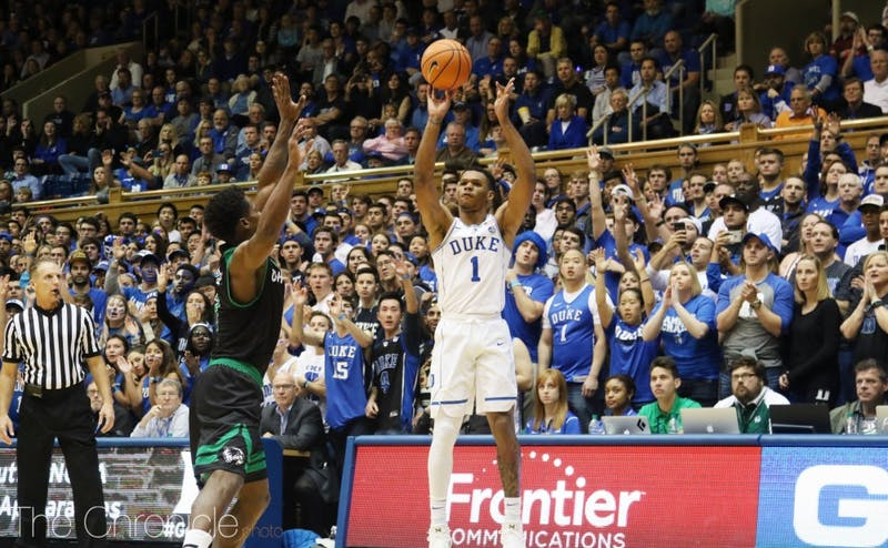 Trevon Duval had a double-double with 15 points and 12 assists in the second game of his career.