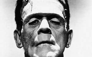 "James Whale's 1931 film ""Frankenstein"" was an early instance of Frankenstein's monster in film, portrayed here by Boris Karloff."