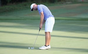 Alex Smalley led the Blue Devils on day three to help secure a championship run for Duke.