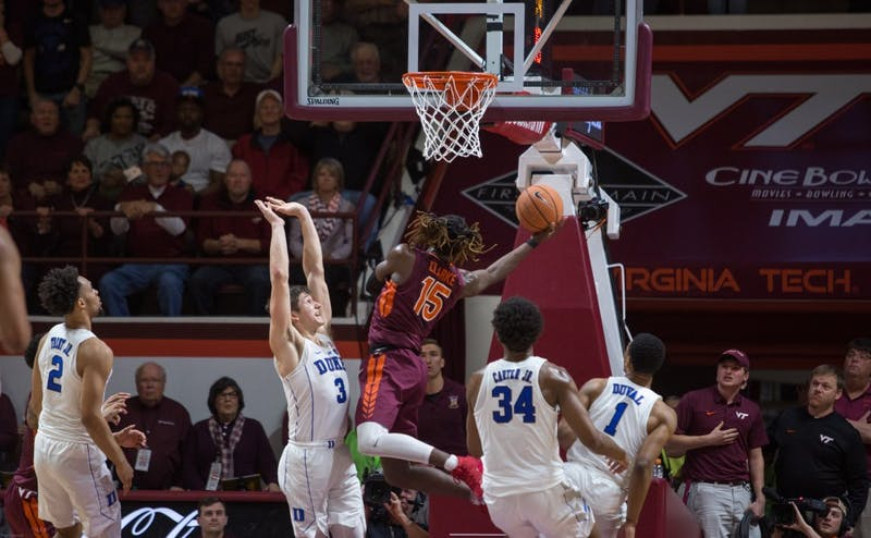 Chris Clarke's putback shot with less than five seconds to play put the Hokies in front and sealed Duke's sixth loss of the season.