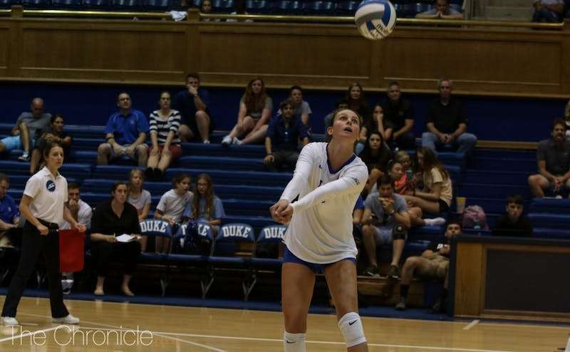 Duke lost five straight set points in the second set on its way to a 3-0 loss to N.C. State.